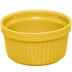 EXCELSA Trendy陶製布丁烤杯(黃9cm)