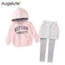 baby童衣 親子套裝 純棉印字帽T條紋褲裙2件套 47114