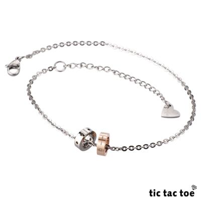 【tic tac toe】自由 女腳鍊(玫瑰金)