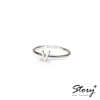 STORY ACCESSORY-字母系列-字母V 純銀戒指