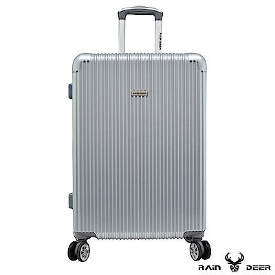 RAIN DEER 簡單玩色24吋PC+ABS行李箱-太空銀