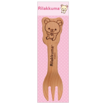 拉拉熊滿滿懶熊生活系列木製叉子。懶妹