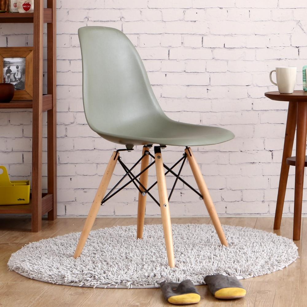 MODERN DECO Eames伊姆斯復刻款原木腳餐椅-多色選