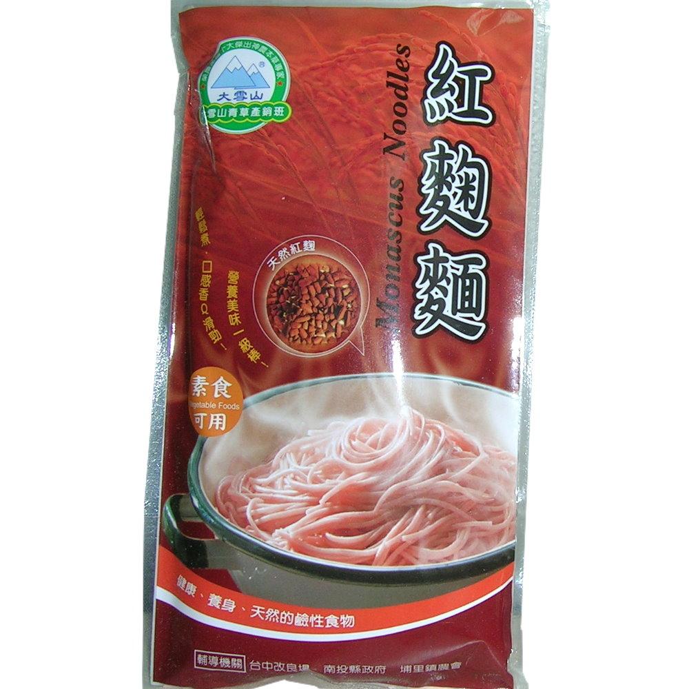 大雪山農場 紅麴麵條(6包)