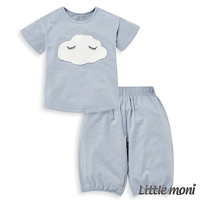 Little moni 家居系列雲朵短袖套裝 (2色可選)