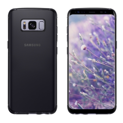 Metal-Slim Samsung GALAXY S8+ 時尚超薄TPU透黑軟...