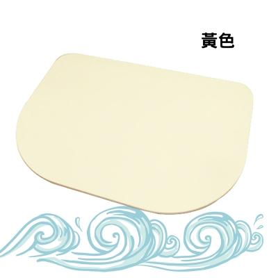 日韓人氣珪藻土吸水造型地墊-圓弧型-黃