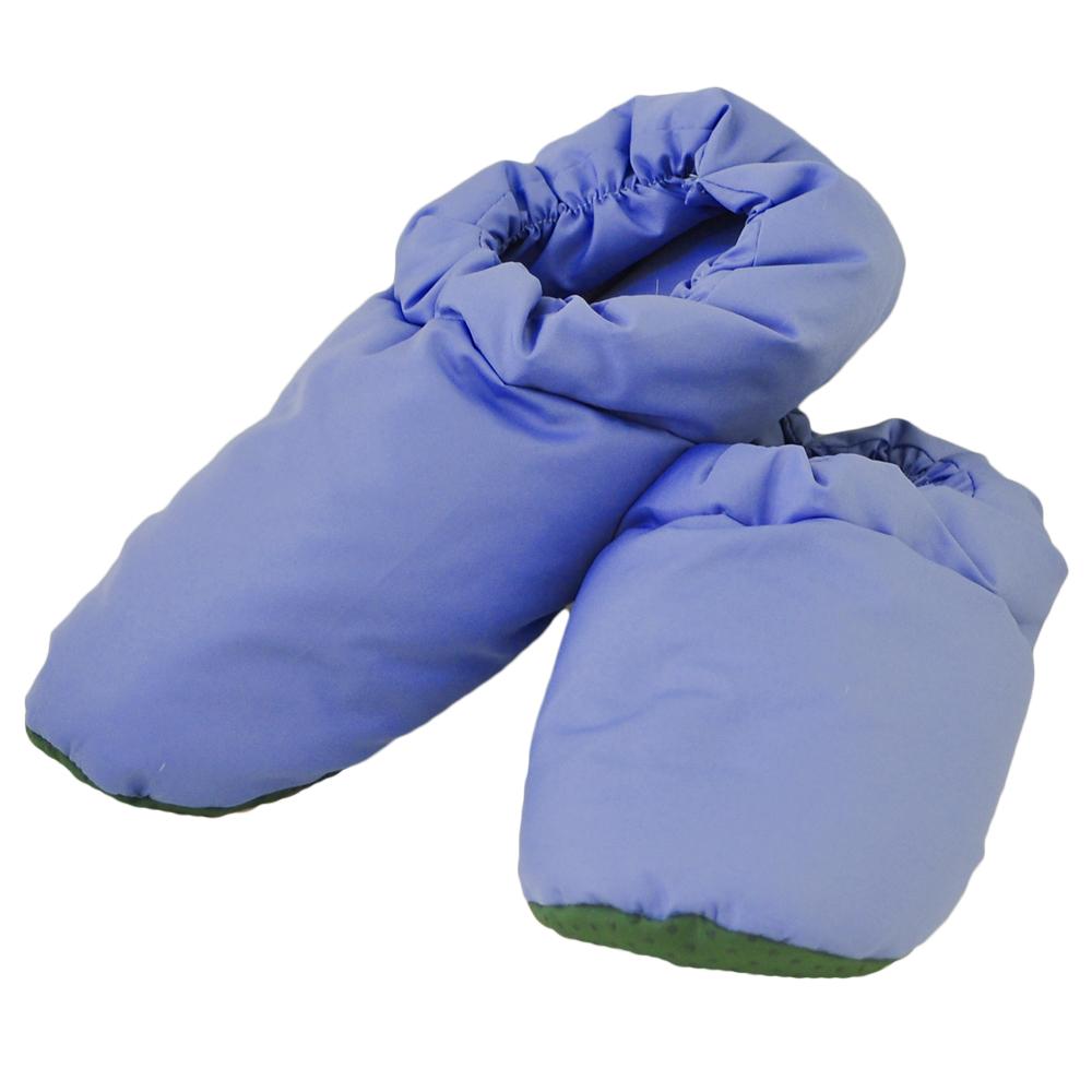 【雅曼斯Amance】天然羽毛保暖拖鞋 居家鞋 羽絨鞋(藍)