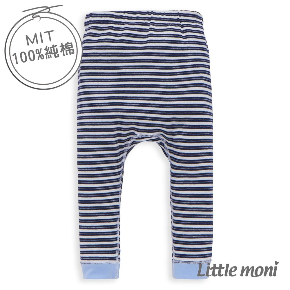 Little moni 純棉家居系列條紋幼兒睡褲 深藍