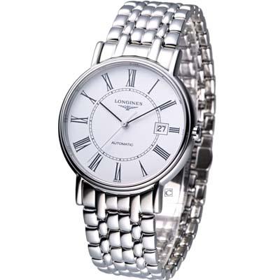 LONGINES Presence 經典紳士機械錶-38.5mm