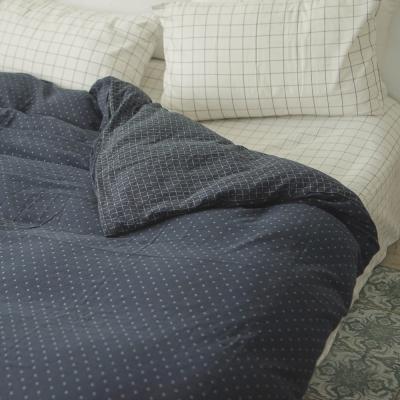 台灣製 被套-雙人 雙層紗-十字丈青 新疆棉寢織品 自然無印 自由混搭 翔仔居家