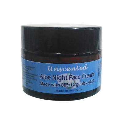 Body Temple無香味臉部蘆薈滋潤晚霜50g-88%有機成份-適一般,乾性肌膚