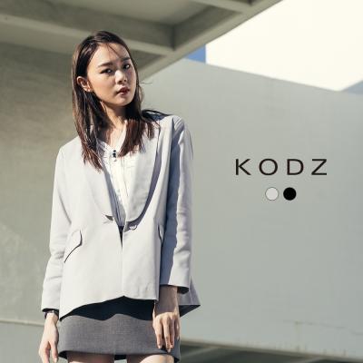 東京著衣-KODZ 極簡修身翻領西裝外套-S.M.L(共二色)
