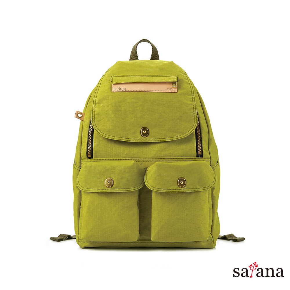 satana - 多功能拉鍊後背包 - 檸檬香茅