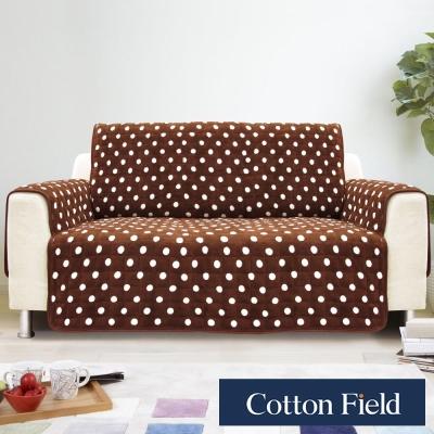 棉花田【暖點】單人沙發防滑保暖保潔墊-可可色
