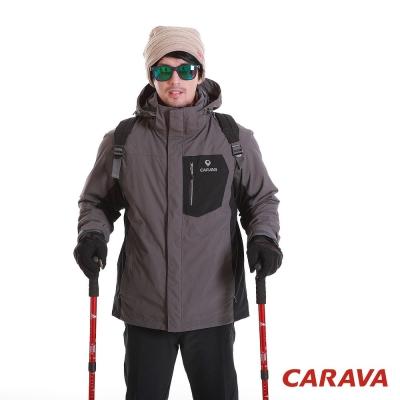 CARAVA 男款防水透氣外套-《兩件式》(深灰)