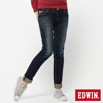 EDWIN 彩色熱情 MISS B.T伸縮AB牛仔褲-女款(酵洗藍)
