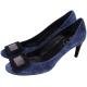 Roger Vivier Belle de Nuit 經典方框麂皮高跟鞋(深藍) product thumbnail 1