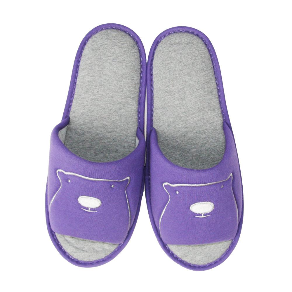 Yvonne Collection大白熊開口室內拖-紫L