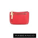 RABEANCO 迷時尚系列雙拉鍊零錢包(大) - 石榴紅