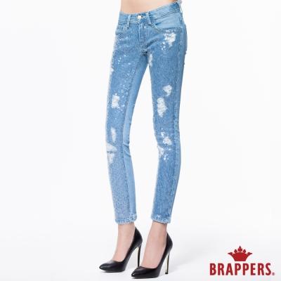 BRAPPERS 女款 BoyFriend系列-女用中低腰彈性九分褲-淺藍