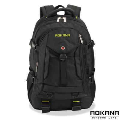 AOKANA奧卡納 台灣釦具 輕量防潑水護脊紓壓機能後背包(黃/黑)68-072