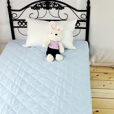 bedtime story 超Q果凍色保潔墊-夏蔚藍-雙人一般5尺-平單式