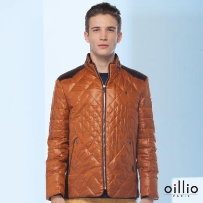 歐洲貴族oillio-羽絨外套-特色肩線-魅力質感-咖啡色