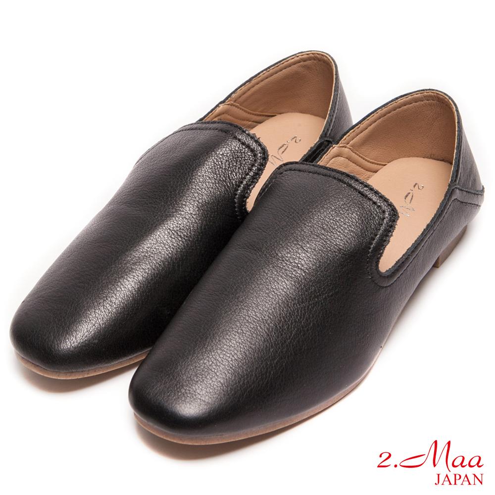2.Maa-率性素面舒適樂福鞋-黑