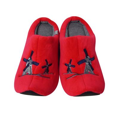 Yvonne Collection荷蘭風車拖鞋-紅L