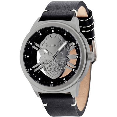 POLICE  暗黑狂潮鏤空個性腕錶-14685JS-04/49mm