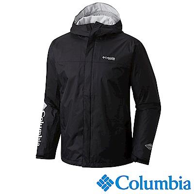 Columbia哥倫比亞 男款 OT單件式防水外套-黑色 (UFM 20210 BK)