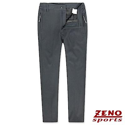 ZENO 極細刷毛彈性保暖長褲‧鐵灰M-3XL