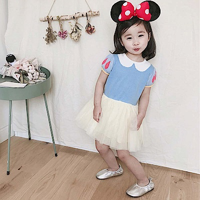 Baby unicorn 白雪公主紗裙短袖洋裝
