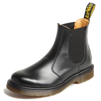 Dr.Martens側邊鬆緊短靴-男款-黑色