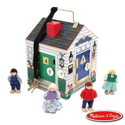 美國瑪莉莎 Melissa & Doug 啟蒙益智 - 木製門鈴娃娃屋