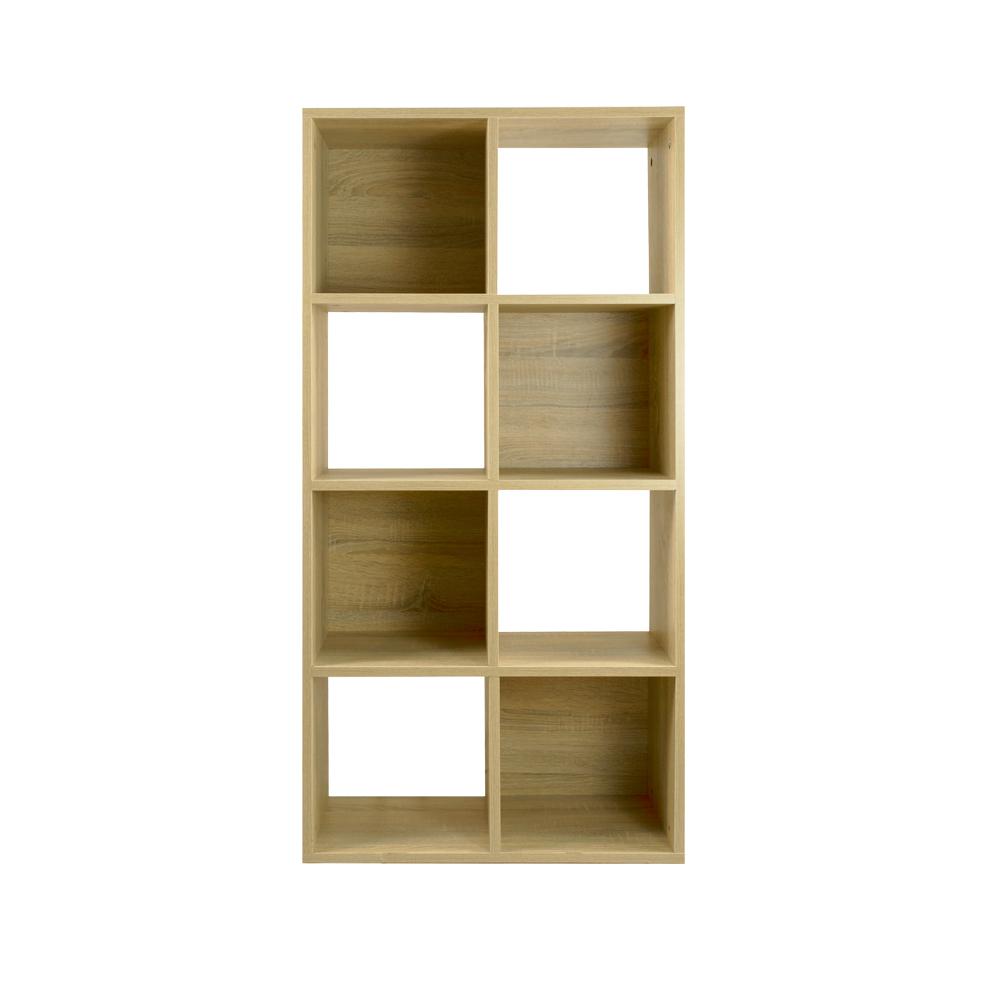 Bernice-亞諾八格開放式書櫃/收納櫃(兩色可選)(DIY)