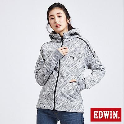 EDWIN 冒險旅行立體剪裁機能外套-女-灰色