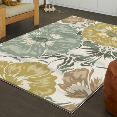 范登伯格 - 維拉 現代絲質地毯 - 花葵 (160 x 230cm)