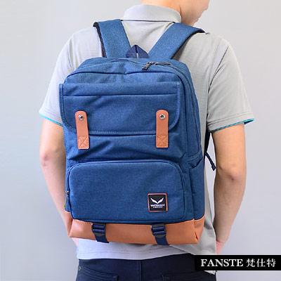 Fanste_梵仕特 帆布文青 多功能後背包-26110