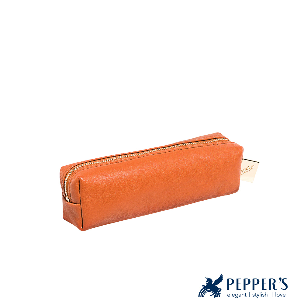 PEPPER`S Ellie 羊皮小吐司袋 - 桔色