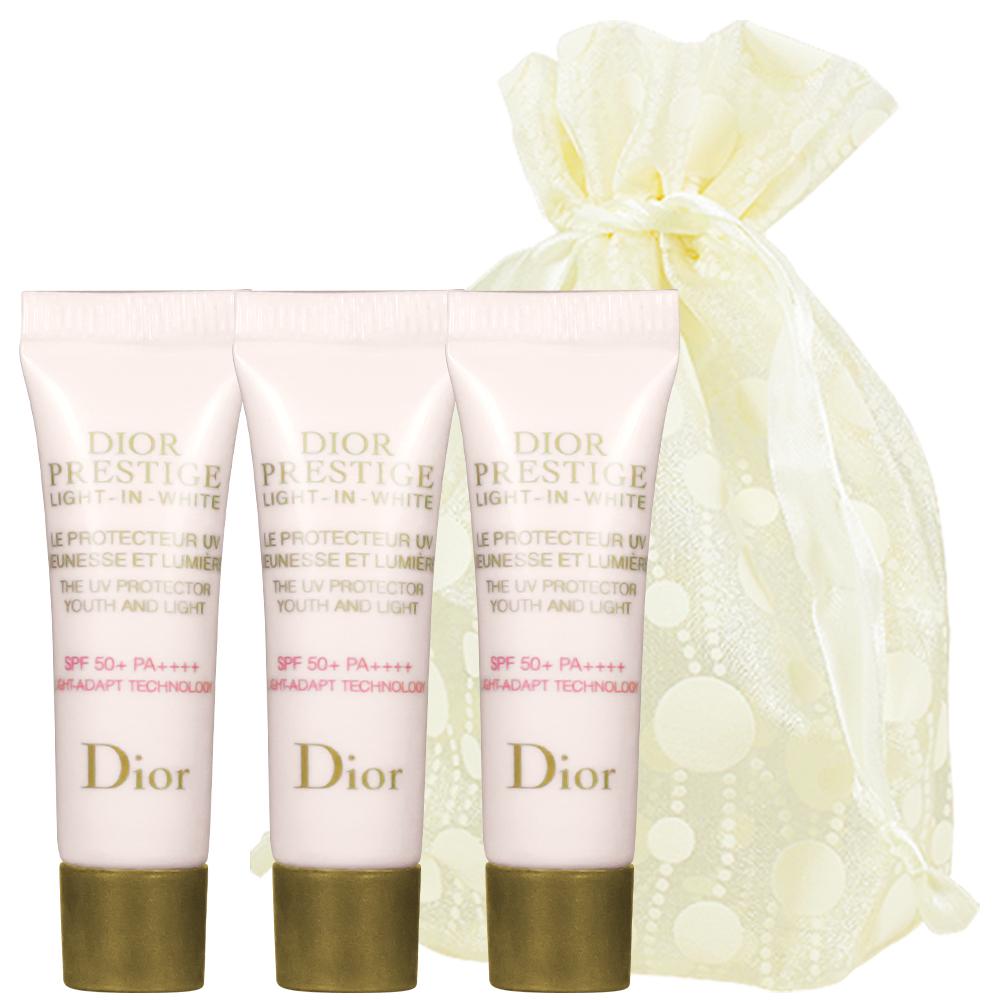 Dior 迪奧 精萃再生光燦防護隔離霜SPF50+/PA++++(3ml)*3旅行袋組
