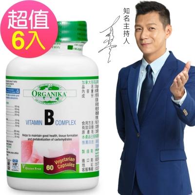Organika優格康-高單位維生素B群+膽鹼+肌醇素食膠囊(60顆團購6瓶組)