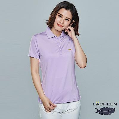 【LACHELN】Coolmax彈性百搭POLO衫-粉紫(L62W909)