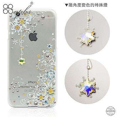 apbs iPhone6s/6 4.7吋 施華洛世奇彩鑽手機殼--雪絨花