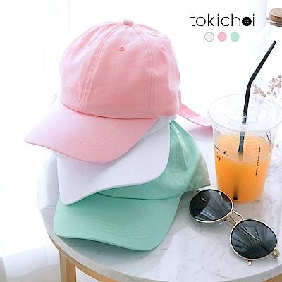 東京著衣 輕甜糖果色綁帶帽子(共三色)