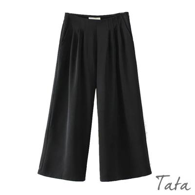素面寬褲-TATA