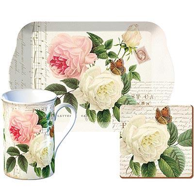 《CreativeTops》馬克杯午茶3件組(玫瑰花園350ml)