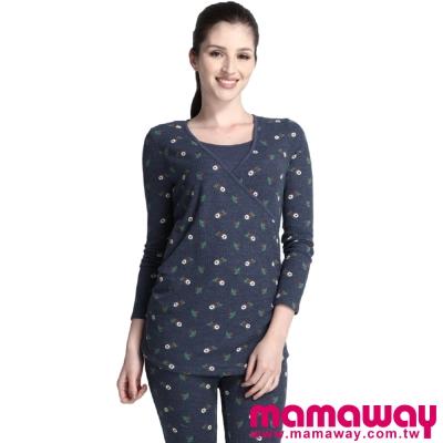 Mamaway-小花孕哺家居服組-共二色