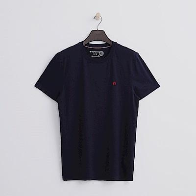 Hang Ten - 男裝 - 有機棉 基本圓領T恤-深藍色